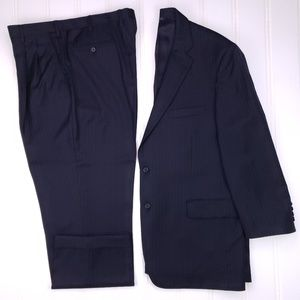 Brooks Brothers Madison Suit 44R Blue Pinstriped